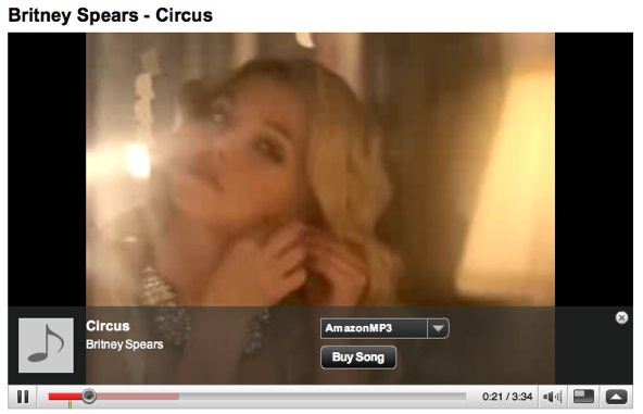 "Youtube Overlay Ad - Britney Spears ""Circus"""