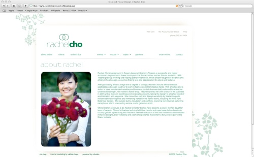 Rachel Cho's Redesigned Website